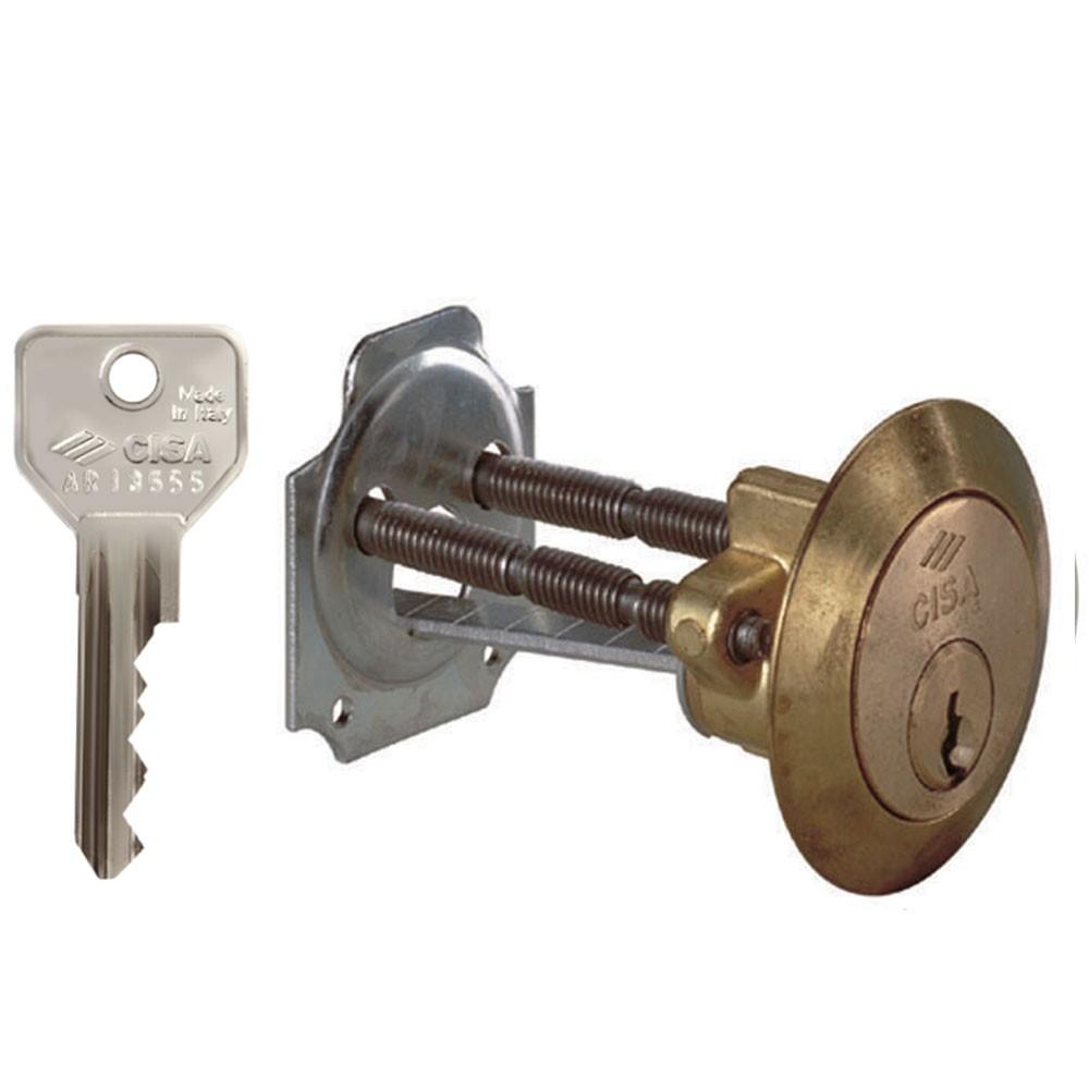 Cisa C2000 Rim Cylinder 5 Pin Brass KA