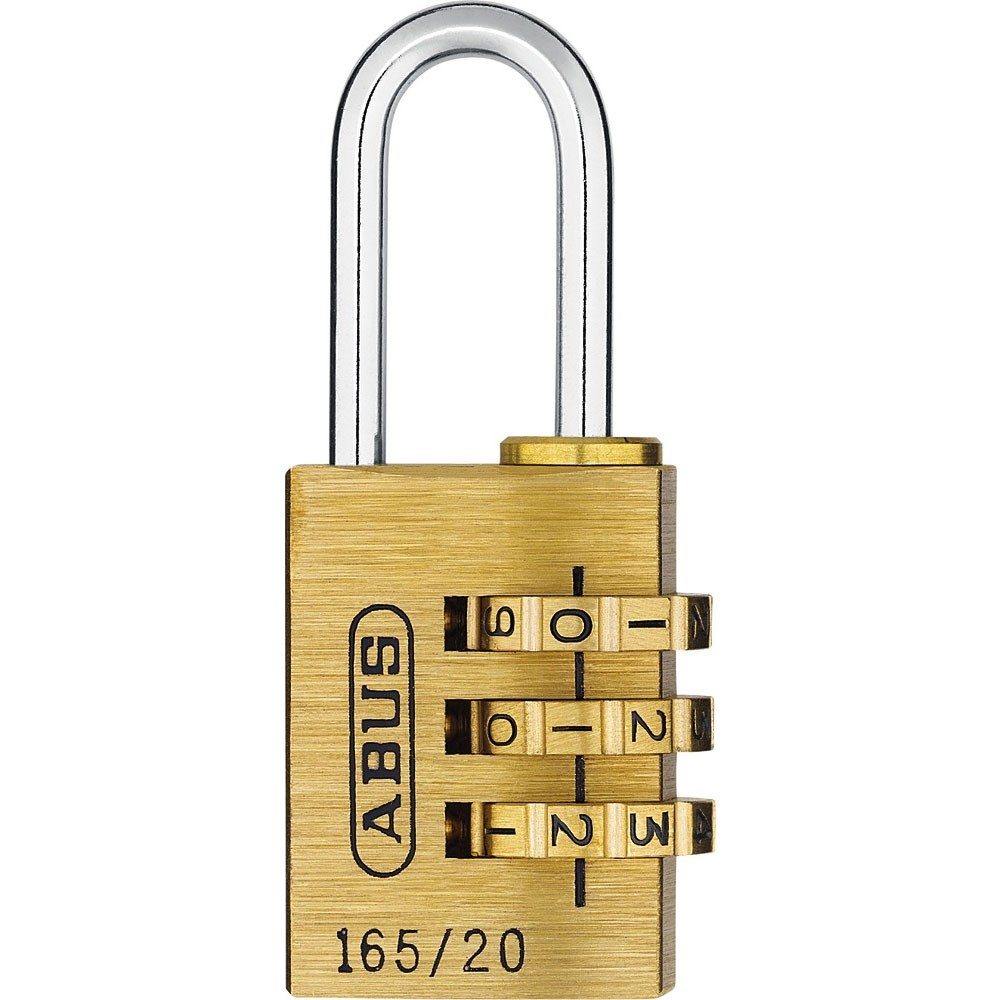Abus Combination Brass Padlock 20mm