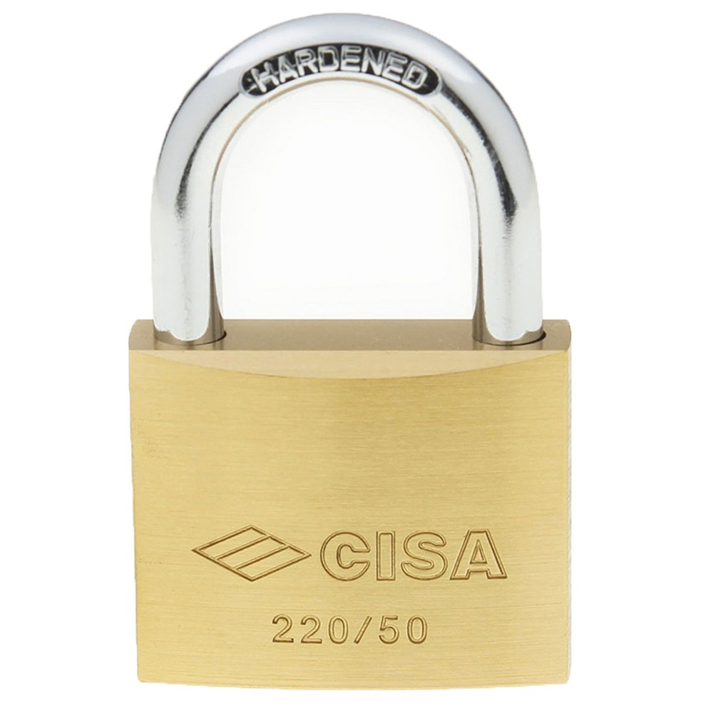 Cisa 22010 Brass Padlock 50mm