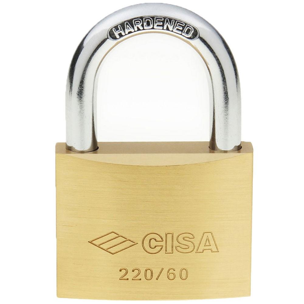 Cisa 22010 Brass Padlock 60mm