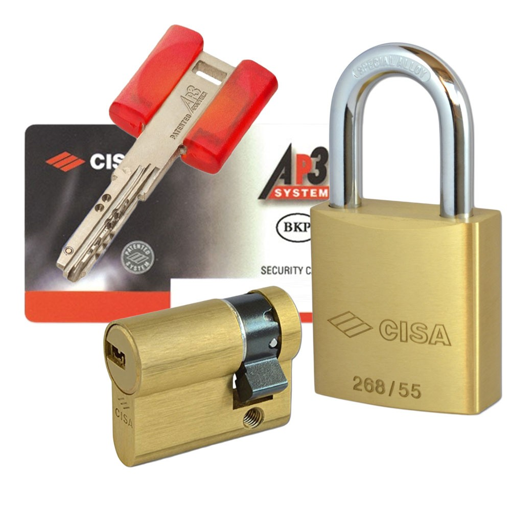 Cisa Padlock With AP3 Cyl 55mm