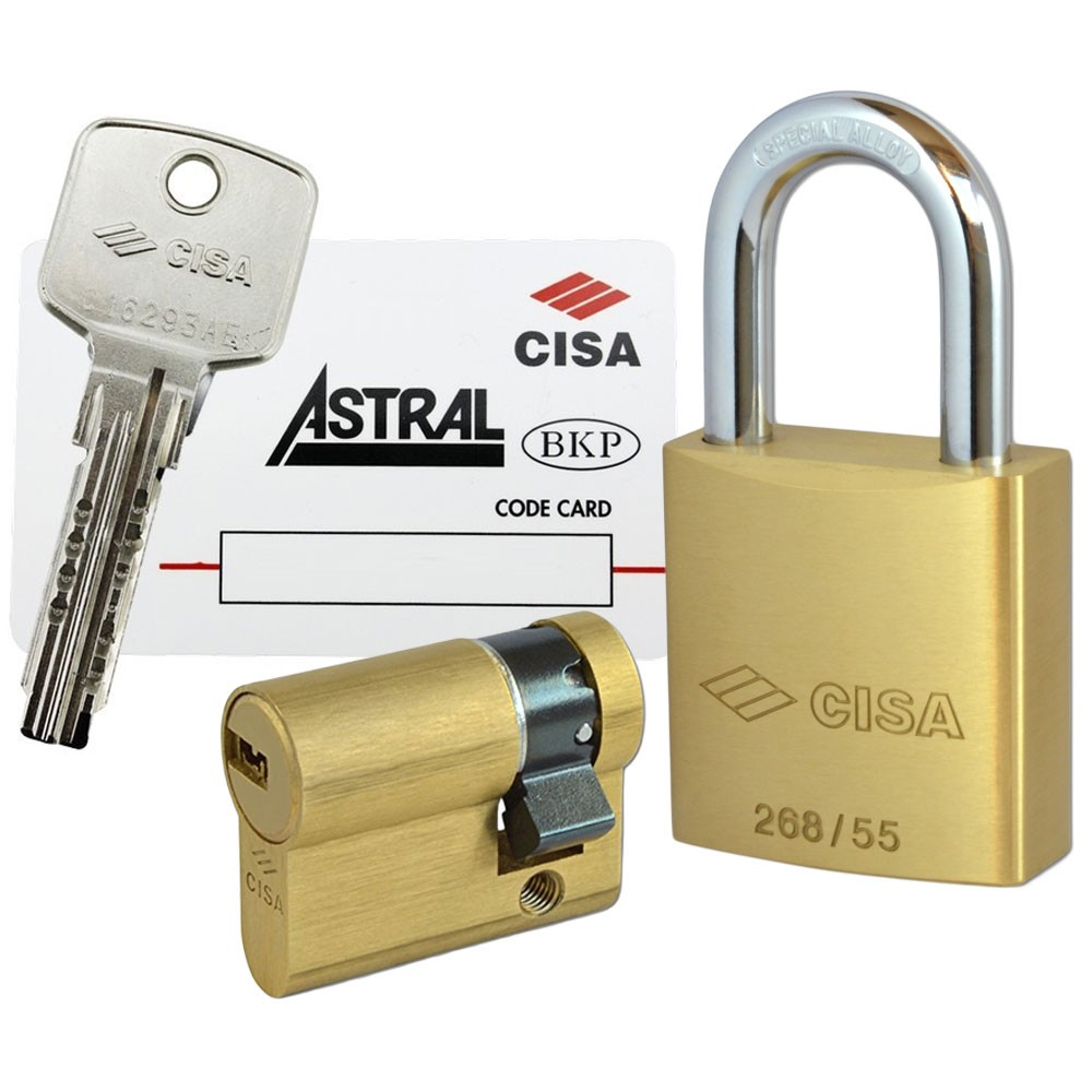 Cisa Padlock With AST Cyl 55mm