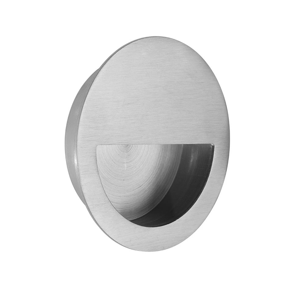 QS Round Flush Pull With Half Moon Pull 50mm