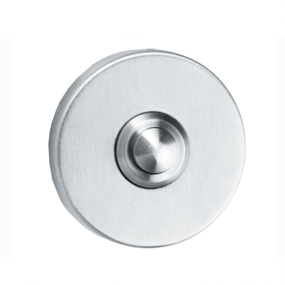 QS Door Bell Push On Round Rose 52mm SS