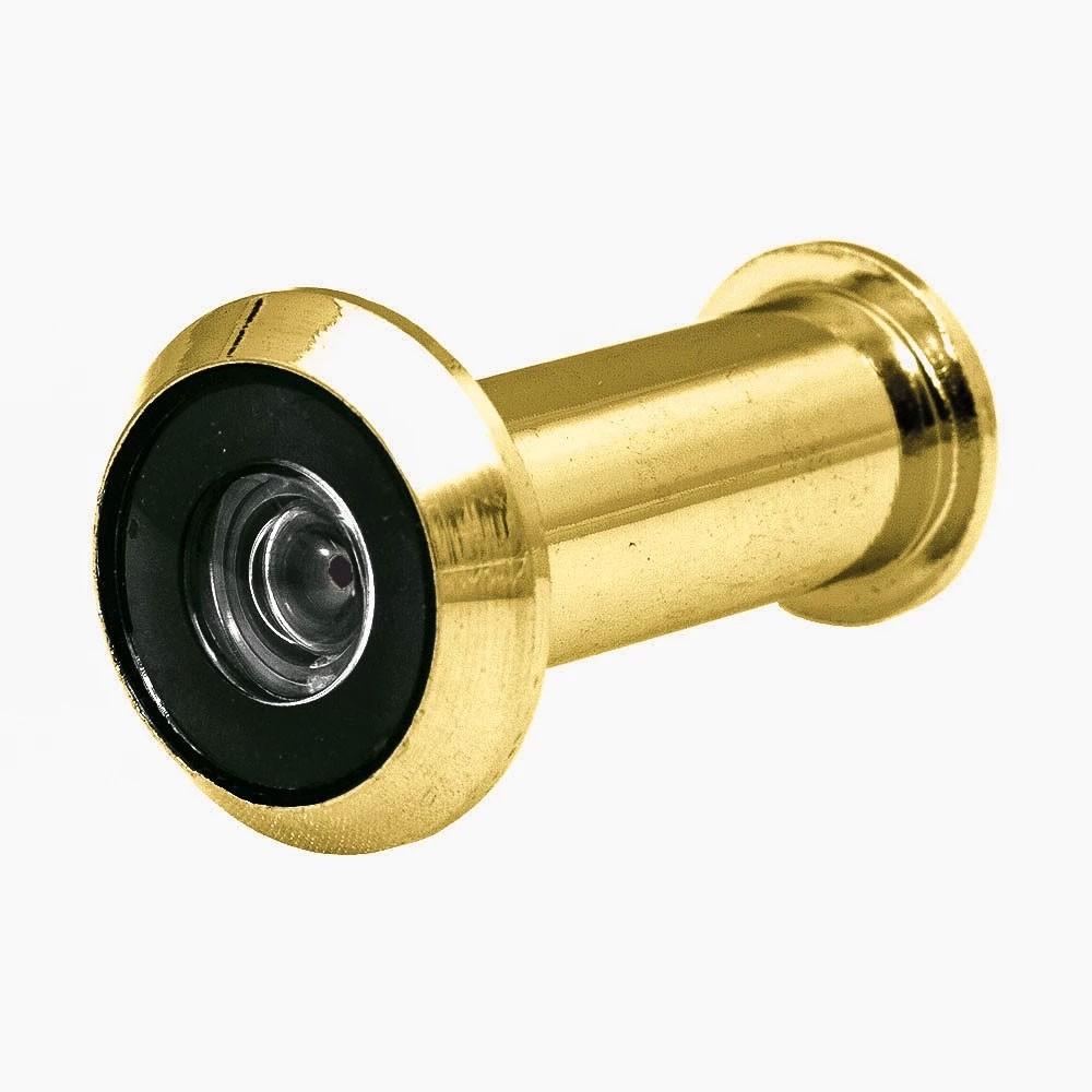 QS Brass Door Viewer 30mm 180° Brass