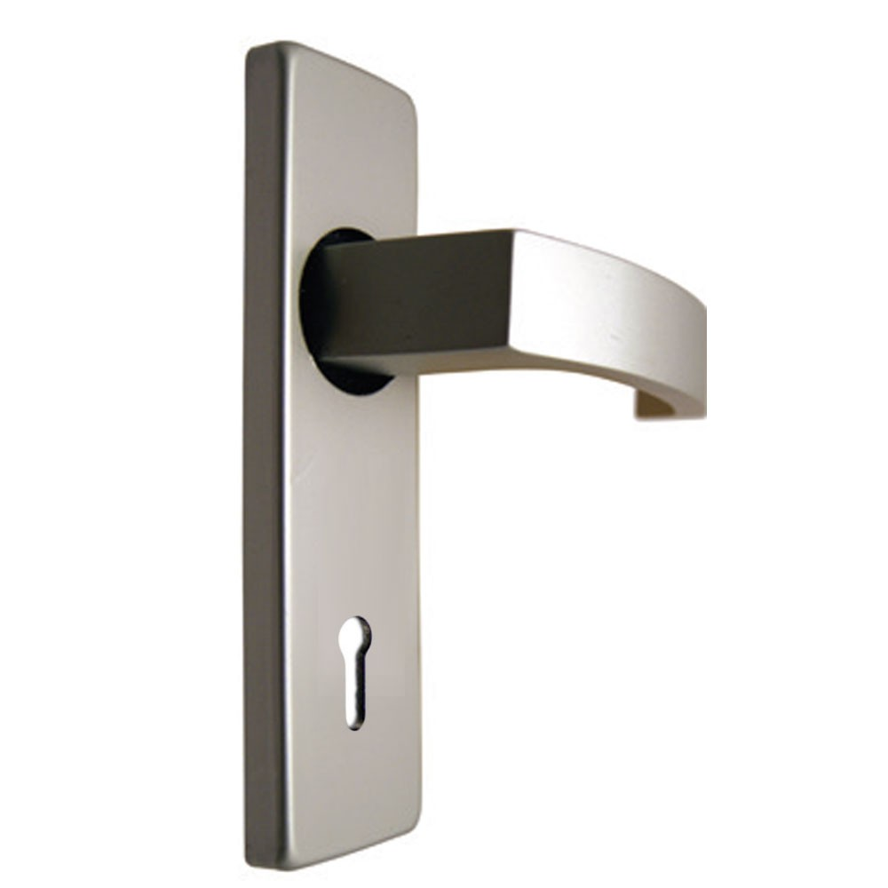Union Sable Door Furniture On 45mm Plate Lock