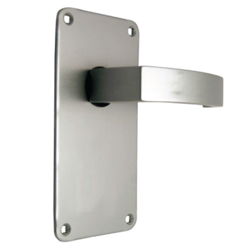 Union Sable Door Furniture On 76mm Plate Latch