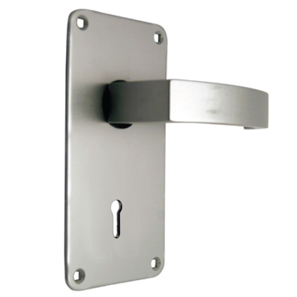 Union Sable Door Furniture On 76mm Plate Lock