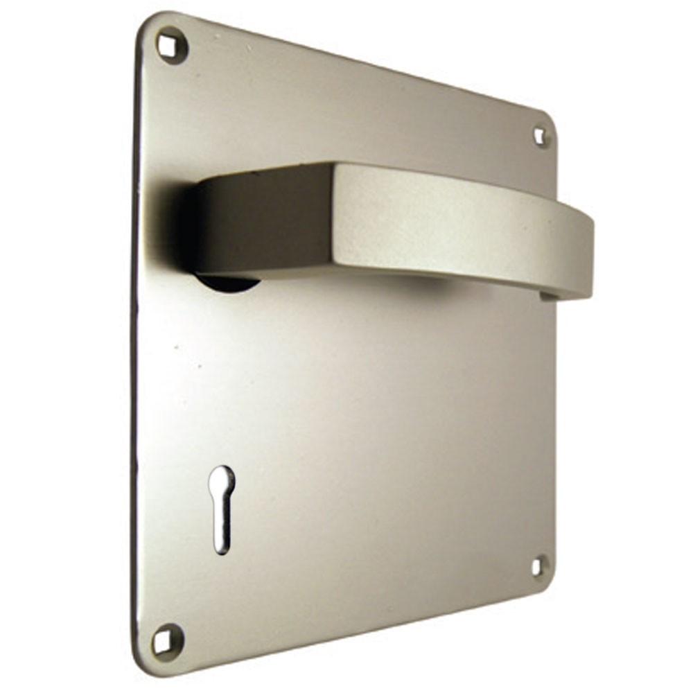 Union Sable Door Furniture On 152mm Plate Lock