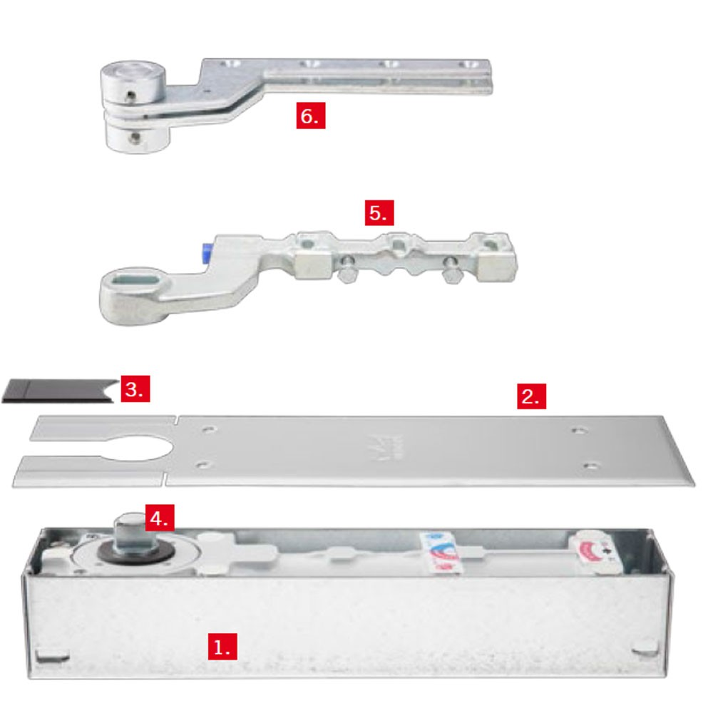 Floor Spring BTS80 Single Action Aluminum
