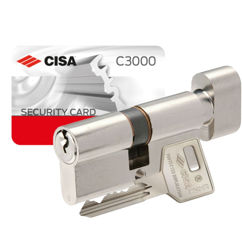 Cisa C3000 Euro Key & Turn with Adjustable Shaft