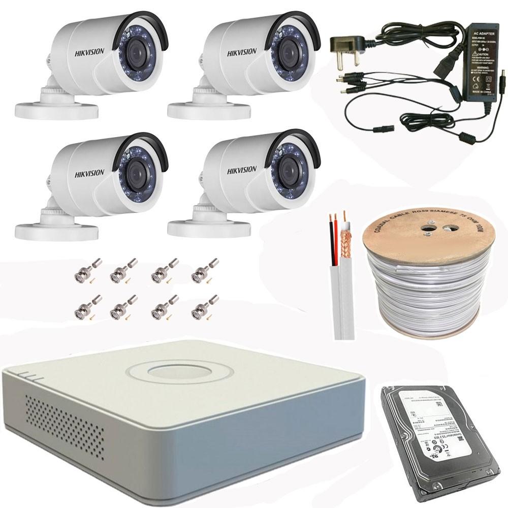 Hikvision HD-TVI 4 Channel CCTV Kit