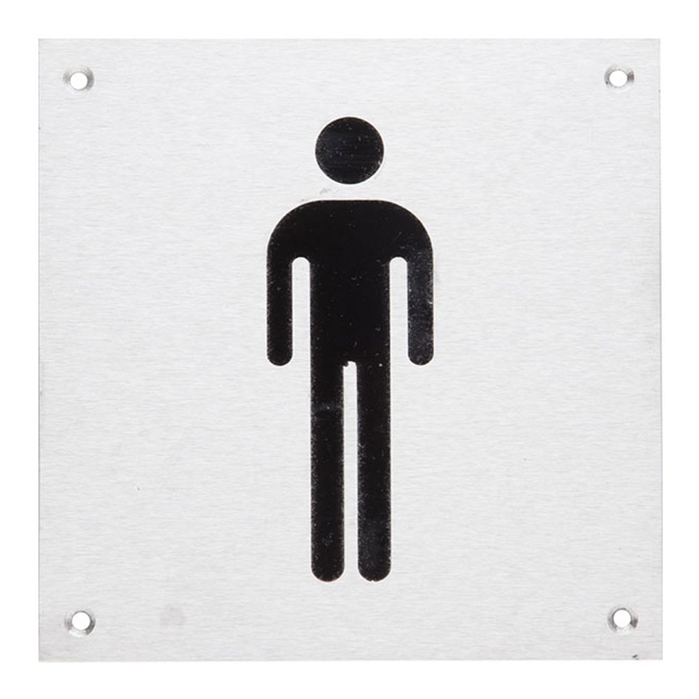 DORMA Male Signage Plate Square SS