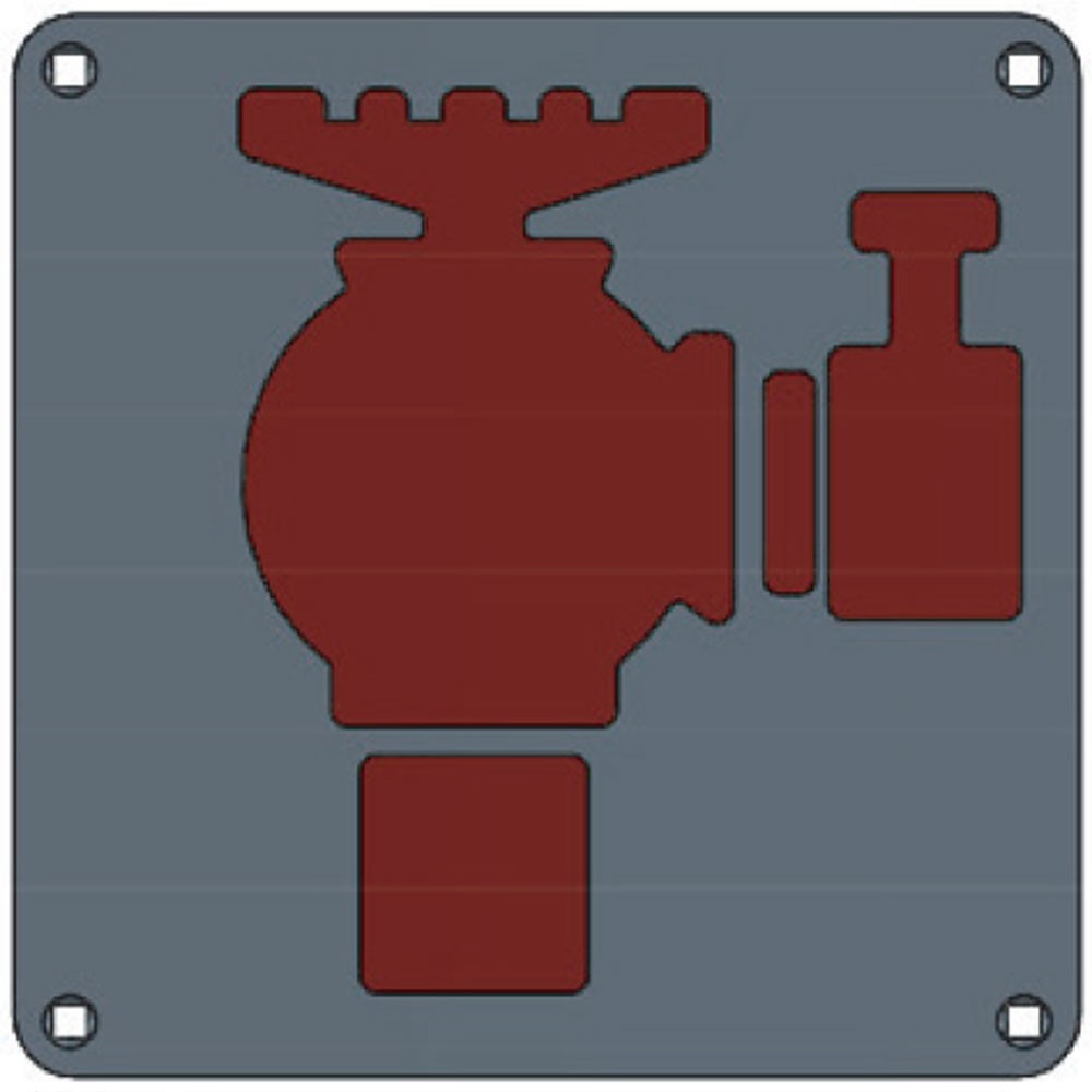 Union Engraved Plate Fire Hydrant