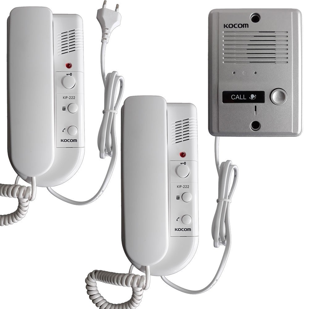 Kocom Intercom 1:2 Kit 220 Volt