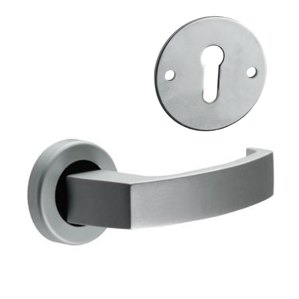 Union Sable Door Furniture On Rose Lock