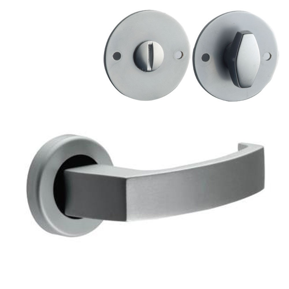 Union Sable Door Furniture On Rose WC