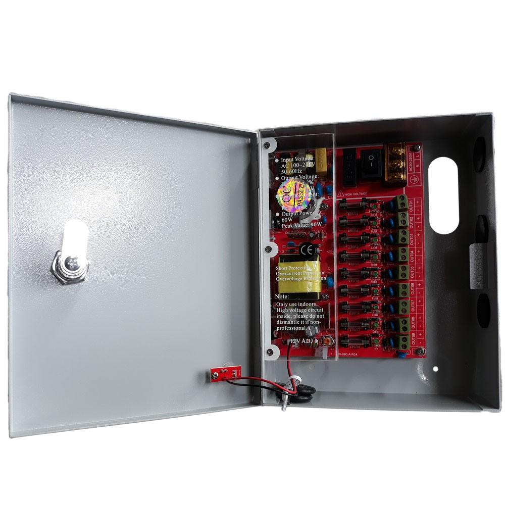 Securi-Prod CCTV 9 Way 5AMP Power Distribution Box