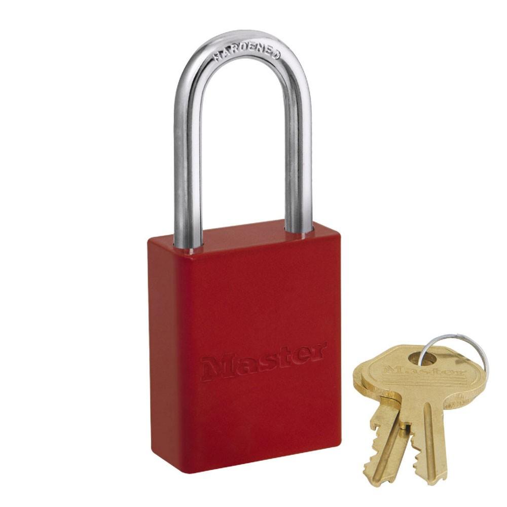 Safety Padlock Aluminium LS Red