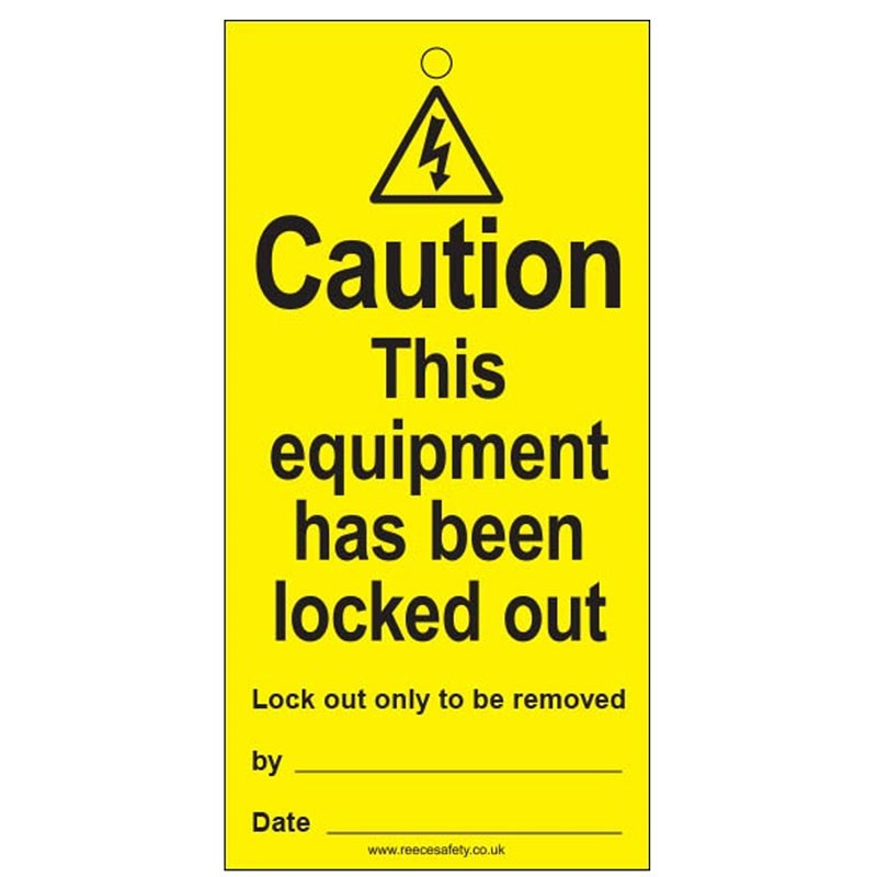 Lockout Tag Equipment Locked 100mm