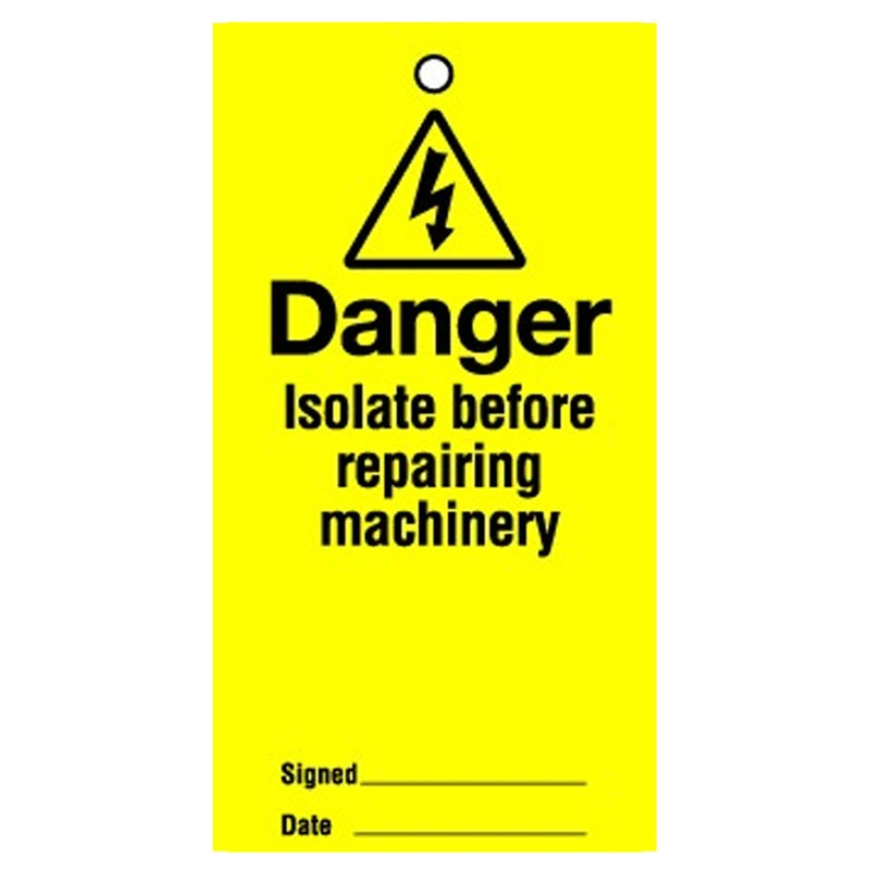 Lockout Tag Danger Isolate Before 100mm