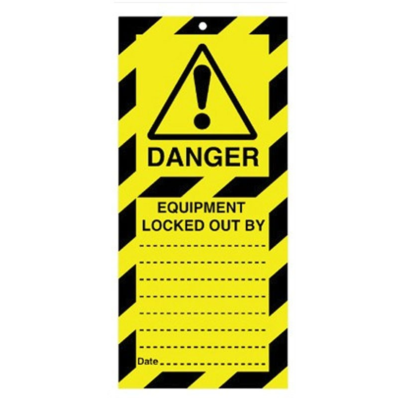 Poly Tag Equipment Locked 50mm