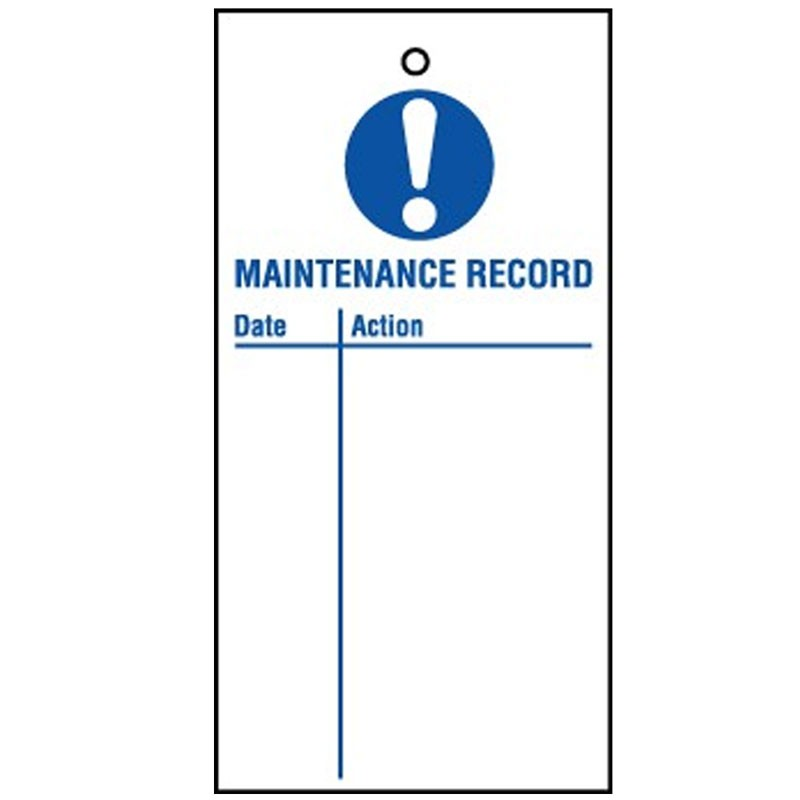 Lockout Tag Maintenance Record