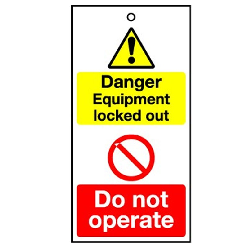 Lockout Tag Danger Equipment Lock