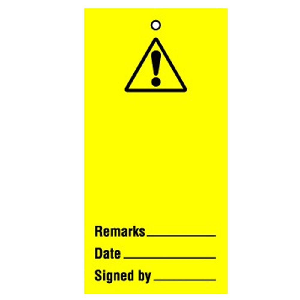 Lockout Tag Warning Blank