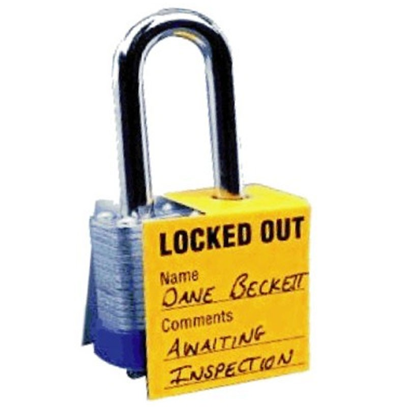Lockout Tag For Padlock