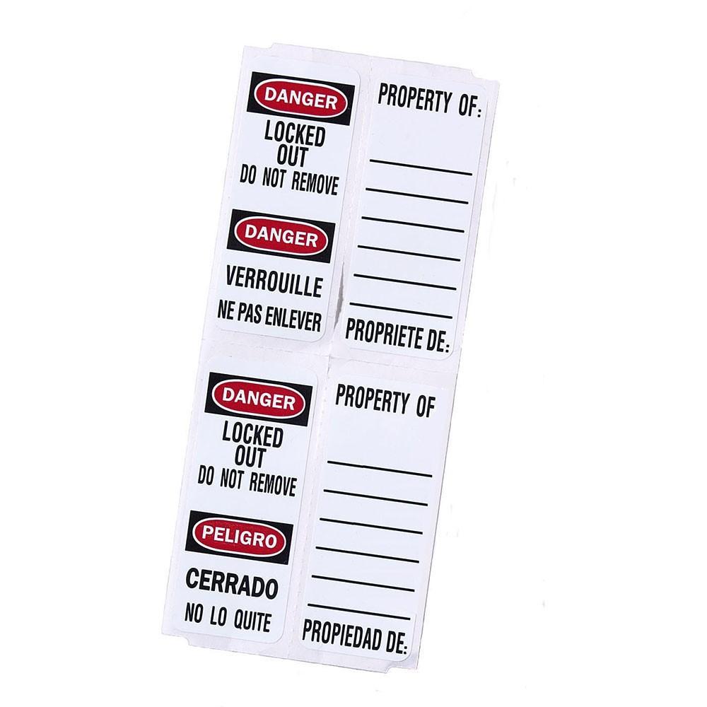 Master Lock 411 Padlock Labels