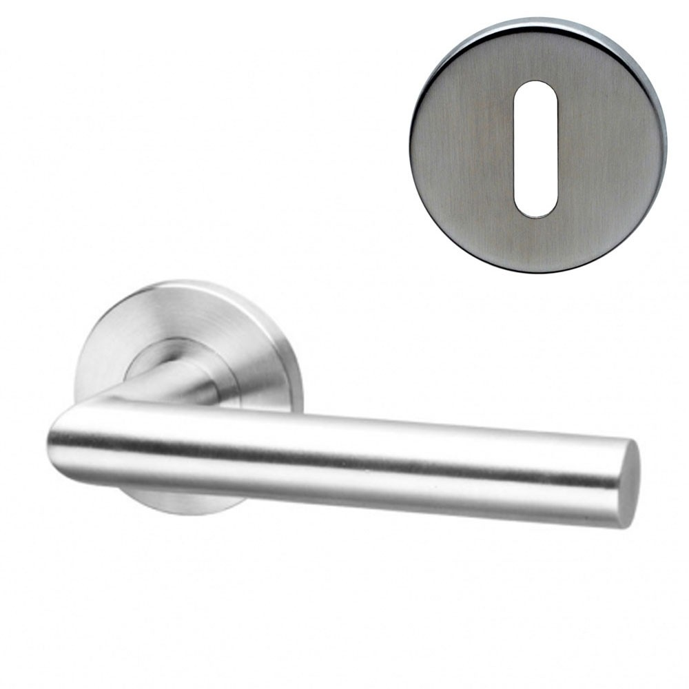 Fortis Handle F06 on Rose SS Lock