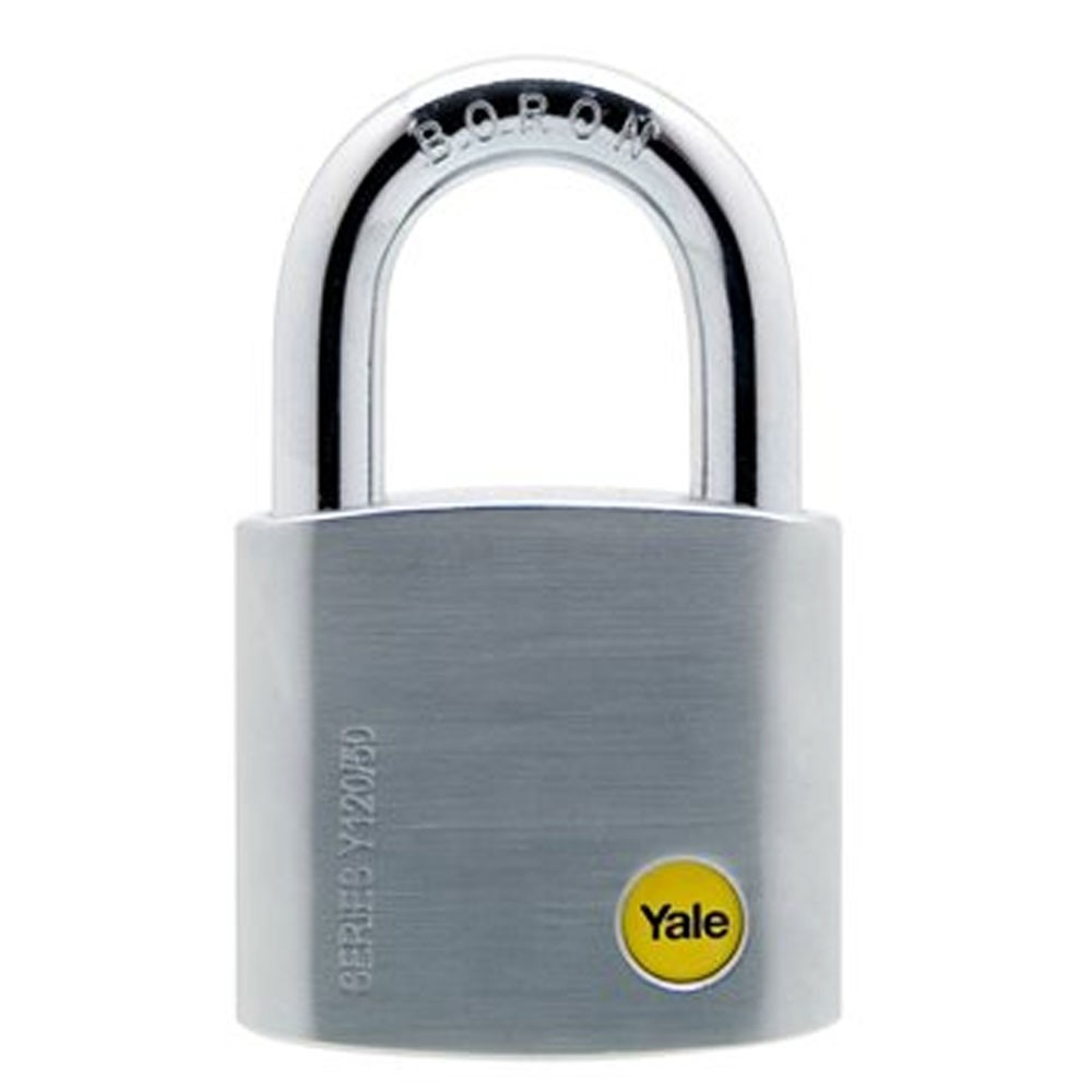 Brass Satin Chrome Padlock 50mm