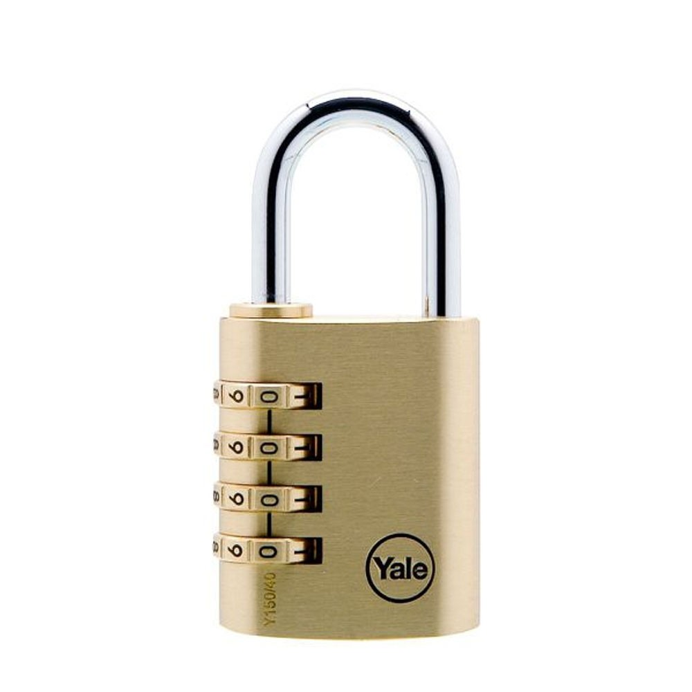 Yale Brass Combination Padlock 40mm