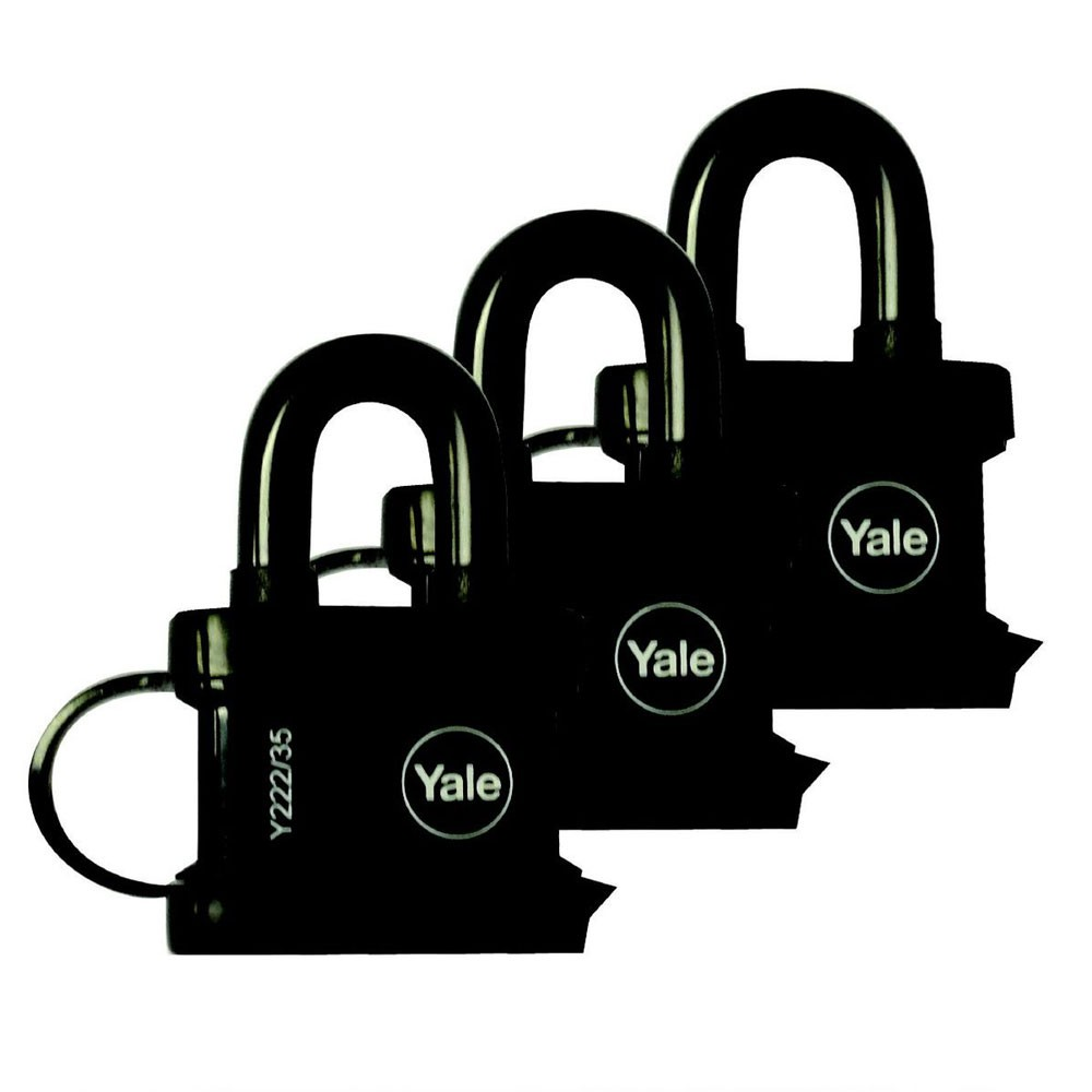 All Weather Padlock 35mm KA Tri Pack