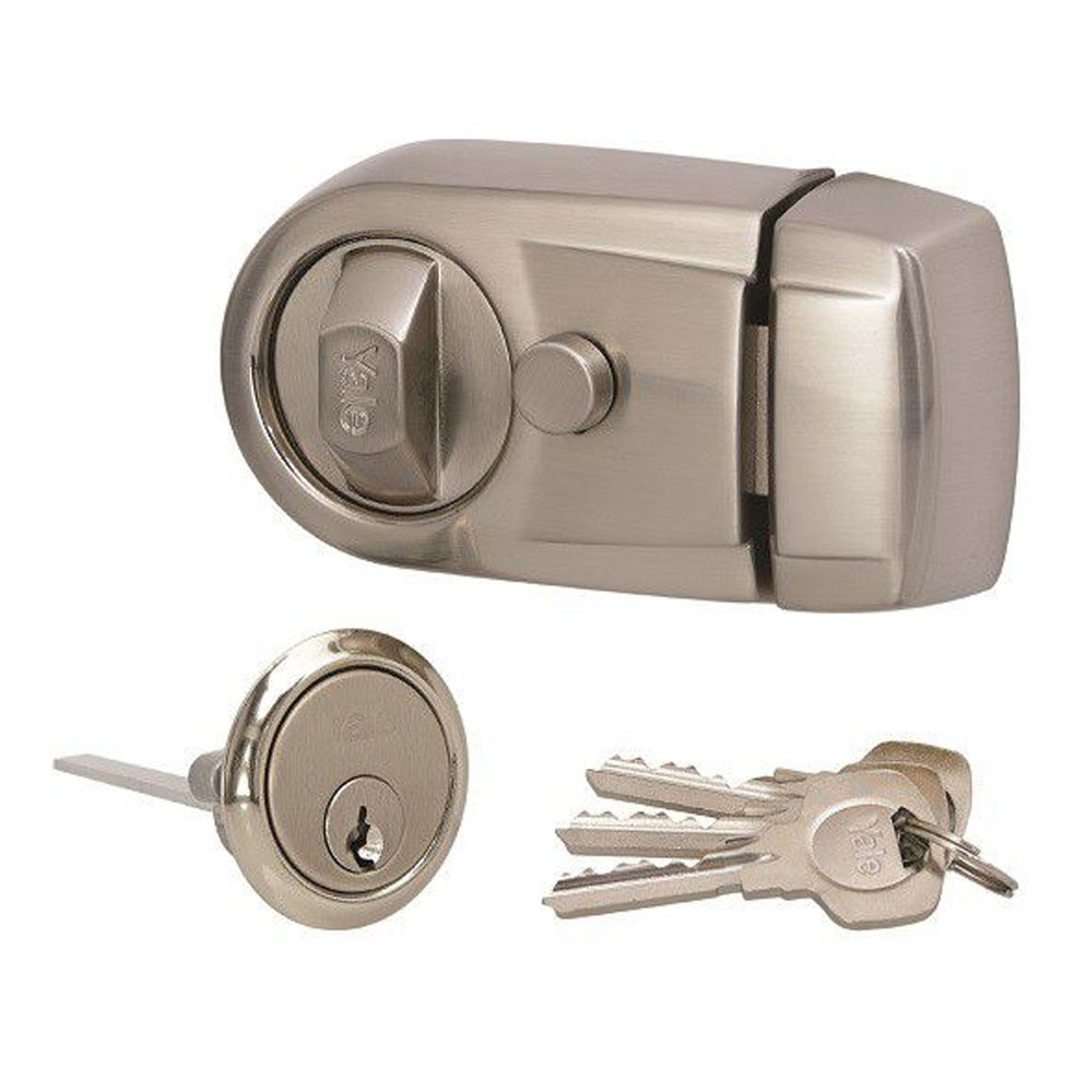 Y3 Nightlatch Satin Nickel