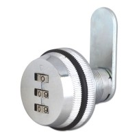Asec 3 Digit Combination Camlock Silver