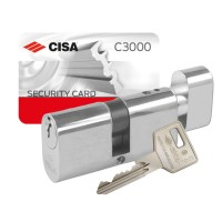 Cisa C3000 Large Oval Key & Turn Cylinder
