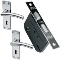 QS Coupé Umea 2 Lever Lockset SS