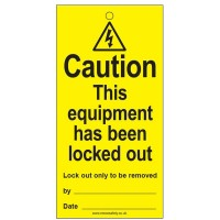 Lockout Tag Equipment Locked