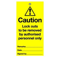 Lockout Tag Removed By Authorised