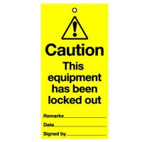 Lockout Tag Caution Equipment Lock