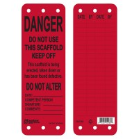 Master Lock S4700 Scaffold Tag Red