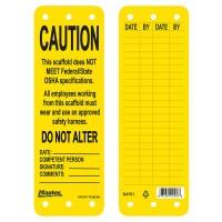 Master Lock S4701 Scaffold Tag Yellow