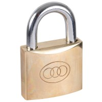Tri-Circle Brass Padlock 63mm