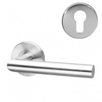 Fortis Handle F06 on Rose SS Euro