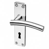 Fortis Handle F05 on Backplate SS Lock