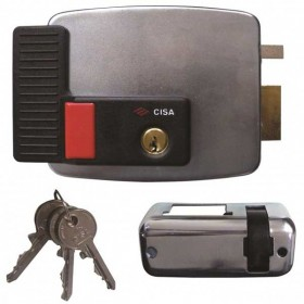 Cisa 11931 Electric Rim Lock with Button Inward Opening