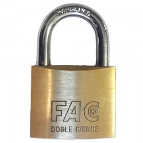 Fortis Brass Padlock 60mm Keyed Differ