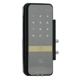 Yale Shine Digital Glass Door Lock Silver